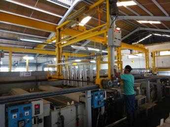 Anodizing facility